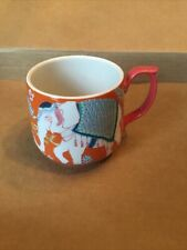 Anthropologie Paige Gemmel Eastern Elephant Flora Mug Orange