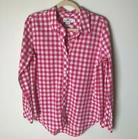 Vineyard Vines Women's Top Size 6 Blouse Shirt Long Sleeves Cotton Pink White
