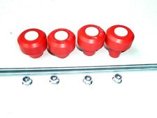 HUSQVARNA TE310 TE510 RED CRASH MUSHROOM FRONT & REAR AXLE SWING ARM SLIDERS