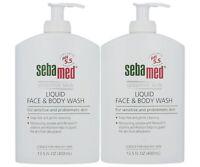 NEW Sebamed Liquid Face and Body Wash for Sensitive Skin (400mL) Value 2 Pack
