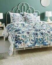 New Anthropologie Velvet Hollyhock Quilt - Queen