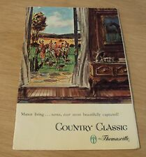 """VTG 1960's Advertising FURNITURE Brochure~""""THOMASVILLE COUNTRY CLASSIC""""~"""