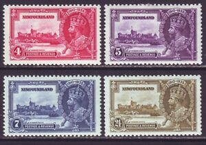 Newfoundland 1935 SC 226-229 MH Set Silver Jubilee