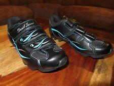 NEW Pearl Izumi Size 37 (7 U.S)W All-Road II Black & Blue Mountain Cycling Shoes