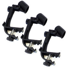 Adjustable Drum Rim Mic Mount Clamp 3 Pack