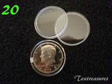 20-T30.6mm AIRTITE/DIRECT FIT COIN CAPSULE for KENNEDY HALF DOLLARS
