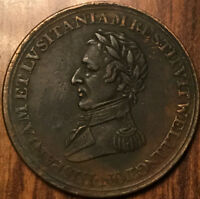 1812 LOWER CANADA HALF PENNY TOKEN WELLINGTON SALAMANCA REEDED DIAGONALLY