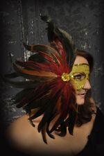 Mardi Gras Mask! Theater! Costume! Masquerade Mask w/Feathers!