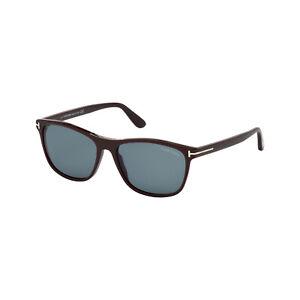 TOM FORD Herren Rechteck Sonnenbrille NICOLO FT0629S 48V Braun / Blau, NEU +Etui