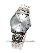 Omax Gents Silver Dial Watch, Stainless Steel Finish, Seiko (Japan) Movt.