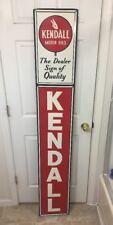 """Large Vintage Kendall Motor Oil Gas Station 72"""" Metal Sign Gas Dealer Quality"""