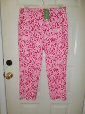 NWT NEW LILLY PULITZER SZ 10 MED Pink Princess Liza Animal Print Capri Cropped