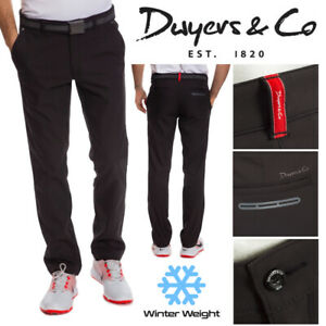 Dwyers & Co WeatherTec Thermo Men's Winter Golf Trousers Black - NEW! 2021