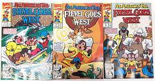 Fievel Goes West Marvel Comic Book Set of 3- Movie Adaptation- UNREAD(M5830)