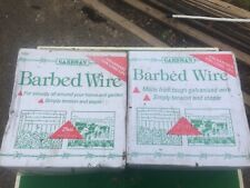 Box of Gardman Galvanised Barbed Wire (25 metres / 80 feet)