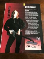 1990 VINTAGE 8X11 PRINT Ad FOR THE JEFF HEALEY BAND ELECTRO-VOICE GUITAR SYSTEM