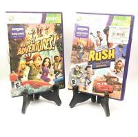 Kinect Adventures + Rush Disney Pixar Adventure Xbox 360 CIB 2-Game Bundle