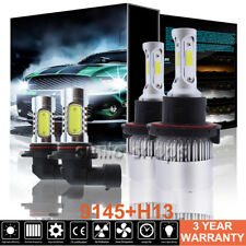 H13 9008 LED Headlight+9145 9140 Fog Lights 6000K Pack For 2004-2014 Ford F-150