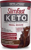 SlimFast Keto Meal Replacement Shake Powder-Fudge Brownie Batter,13.4Oz10Serving