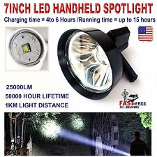 CREE T6 LED SPOTLIGHT HANDHELD HUNTING LIGHT RECHARGABLE+Built-in Battery 12V 24