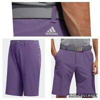 New Adidas Ultimate 365 Mens Solid Golf Shorts- Purple - Pick Size- Closeout