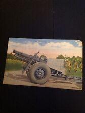K2-9 Postcard Unused Ww2 155mm Howitzer 02 USA Army Unused Corner Wear
