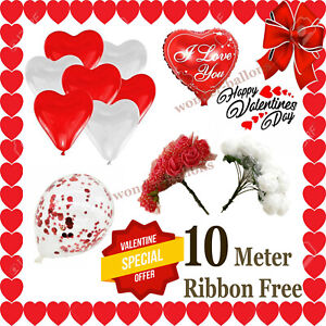 10 Heart Shape I Love You Balloons Valentines Day Romantic Baloons for Your Love