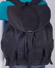 CAMEL Extra Large Black Leather Backpack Shoulder Hobo Tote Satchel Purse Bag