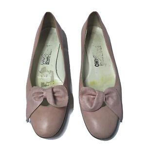 Salvatore Ferragamo Pink Ballet Flats Shoes Women's 7.5 AA Narrow