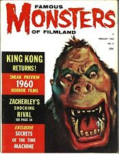 FAMOUS MONSTERS OF FILMLAND NO.6 FEB 1960 KING KONG SECRETS OF THE TIME MACHINE
