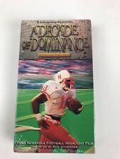 HUSKER VISION A DECADE OF DOMINANCE VHS Nebraska Cornhuskers Tape New Sealed