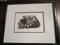"George Ivers Signed Numbered 3/75 LITHOGRAPH RARE ""TRIO"" FRAMED"