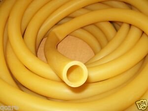 "3/4"" I.D x 1/8"" wall x 1"" O.D Latex Rubber Tubing Amber Heavy Duty made in USA"