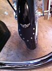 Harley Motorcycle Front Fender Mud Flap Softail, Dyna, Sportster W/ CONCHO