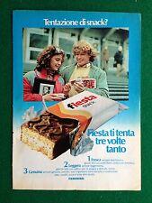PY66 Pubblicità Advertising Clipping 24x18 cm (1984) FERRERO FIESTA SNACK