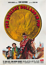 For a few dollars more 1965 Clint Eastwood cult western Movie poster print 4