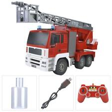 1:20 RC Fire Truck Engine Remote Control Pumper w/LED Light & Sound Construction
