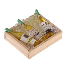 Miniatur Eis Champagner Bierflaschen mit Magnet Holz Aufbewahrungsbox 1/12