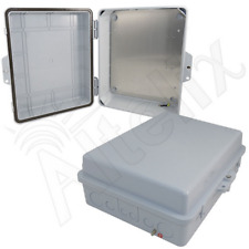 Altelix 14x11x5 Polycarbonate Abs Weatherproof Nema Box with Aluminum Plate Gray