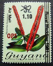 Guyana 1982 Pflanze Plant Aufdruck OPS Dienst A32 Postfrisch MNH