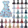 Women Vintage 50s Rockabilly Swing Dress Pinup Dress Cocktail Evening Party Gown