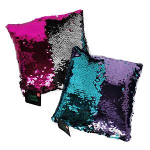 2x Sequin Colour Change Mini Cushion