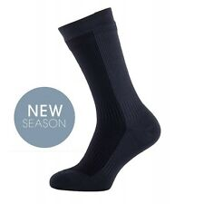 Sealskinz Mid Mens Grey Black Waterproof Walking Hiking Long Socks L
