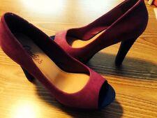 Candies Peep Toe Platform Shoes Fuchsia, Purple & Royal Blue - Size 7 New