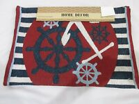 Coastal Beach 4th of July Patriotic Tapestry Placemats Red Blue White Set of 4