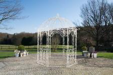 Pavillon Eisen antik creme Rankhilfe stabil Pergola Rosenbogen Rankgitter design