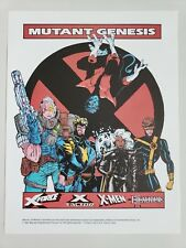 "X-MEN MUTANT GENESIS PROMO FLYER (1991) 2-SIDED RARE 8.5"" x 11"" LIEFELD! JIM LEE"