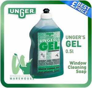 Unger's Gel Professional 500ml Window Cleaning Soap Water Additive Unger
