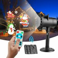 Christmas LED Projector Light Moving Laser Landscape Outdoor Xmas Santa Lamp