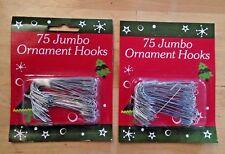 150 Large Metal Ornament Hooks Jumbo 2.5 inch